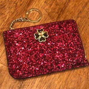 Kate Spade sparkly wine keychain cardholder NWT!